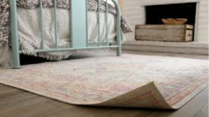 how to fix curled rug corners